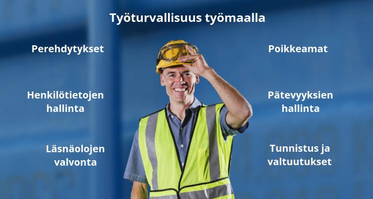 Työturvallisuuden edistäminen osana työmaiden arkea – sähköinen perehdytys ja pätevyyksien hallinta