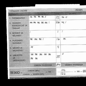 Perinteinen paperille tehty TR-mittaus