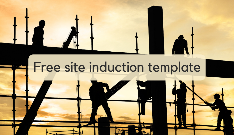 Free site induction template for construction