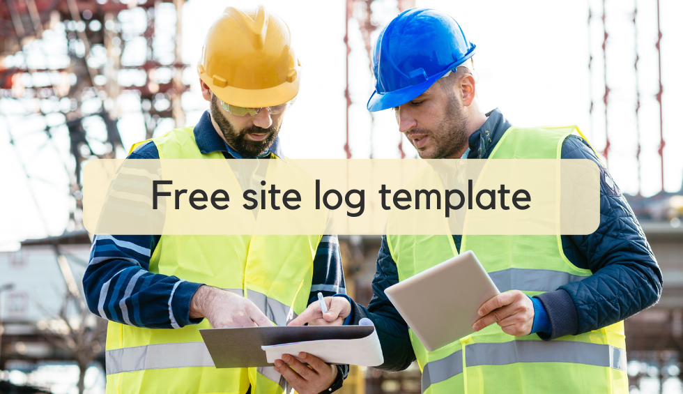 Download free site log template