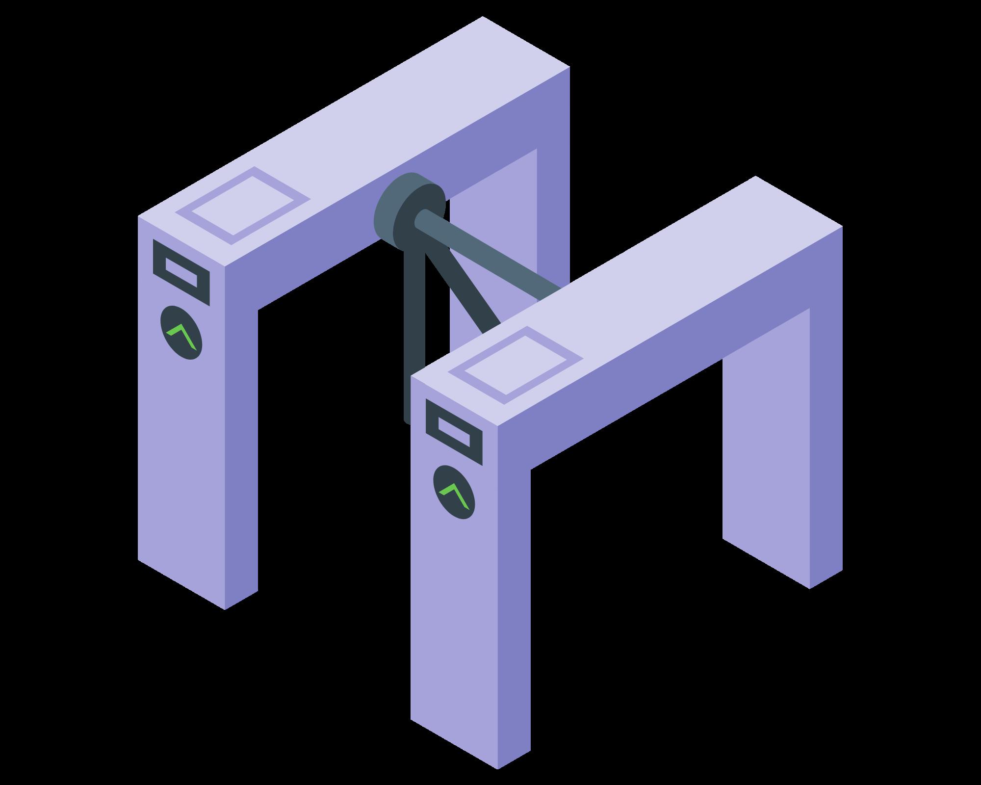 Construction site turnstiles