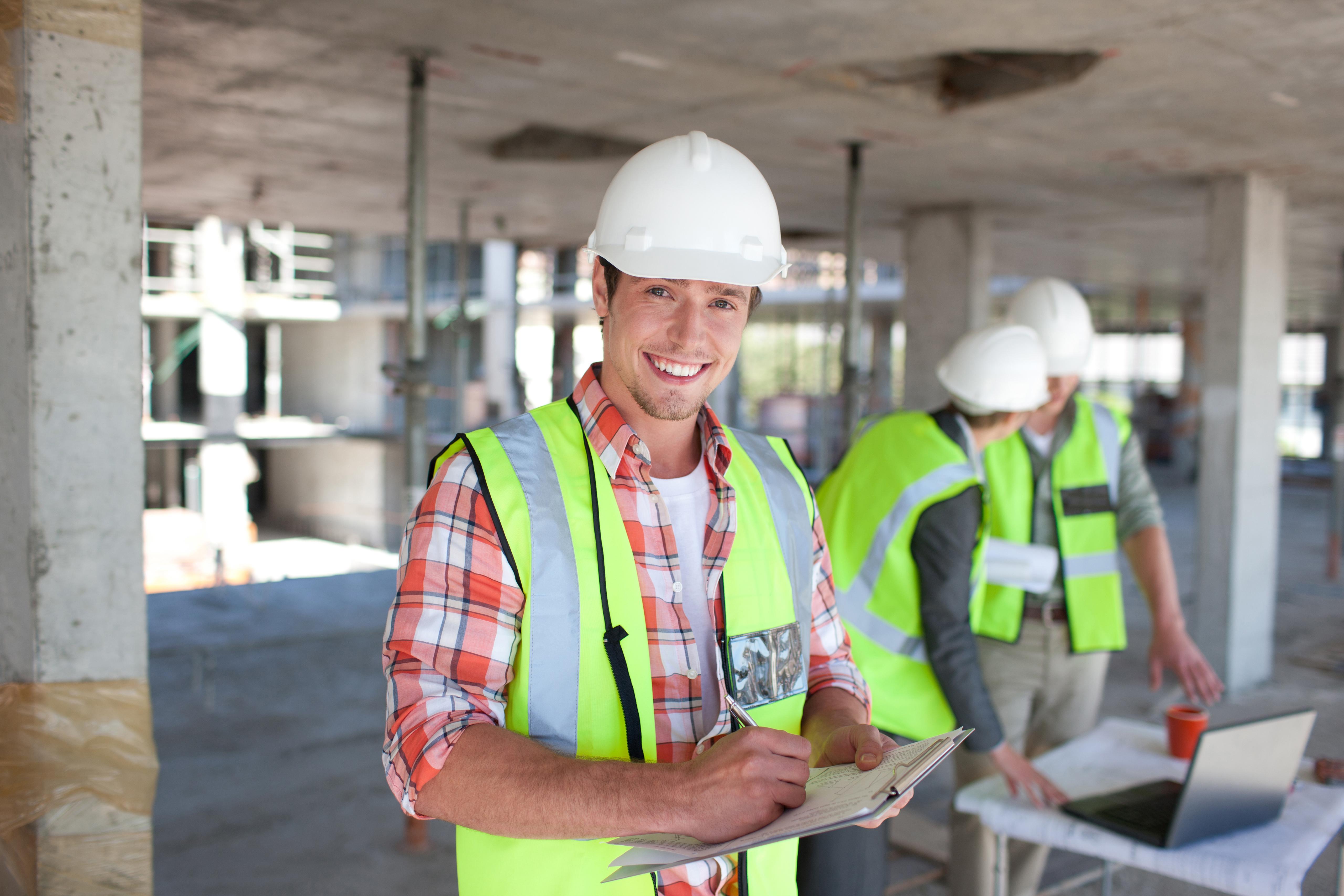 Subcontractors on job site